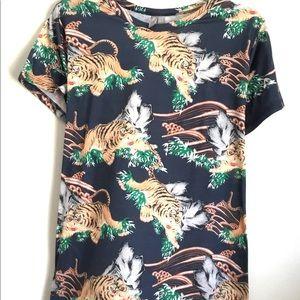 ASOS Tiger Safari Graphic Ribbon Tie Back Top 14